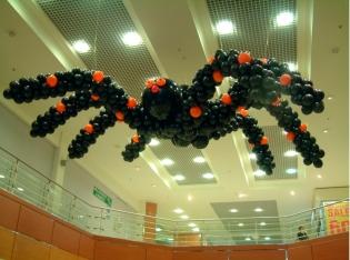 Decoración_araña_globos_halloween